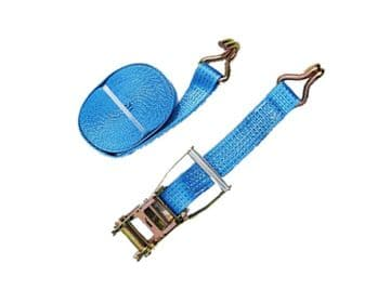 1 x 50mm x 12 metre RATCHET LASHING STRAPS MBL 5T Tie Down Claw Hook trailer